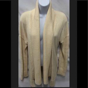 J CREW Cardigan Ivory Sweater Shawl Cotton Career